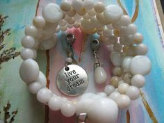 Weight Loss Bracelet Track Weight Watchers Points by GinnyRiggle, $20.00. Agate Gemstones