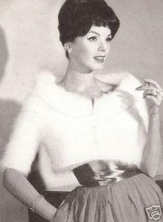 Vintage Knitted Angora Designer Jacket