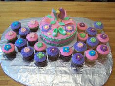 Tinkerbelle cake & cupcakes