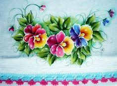 pintura em tecido amor perfeito