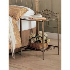 Coaster Company Goldtone Nightstand (Golden), Gold (Metal)