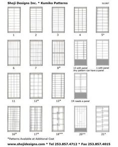 RE: Shoji Designs Kumiko Style Sheet. I wish i had a closet styled like shoji.