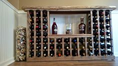 How to build a Classic Wine Rack From Pallets And Reclaimed Barn Wood. A simple tutorial to create your own incredible wine rack. Old Barn Wood, Reclaimed Barn Wood, Wood Wood, Vintage Wine Rack, Wine In The Woods, Built In Wine Rack, Pallet Wine, Glass Rack, In Vino Veritas