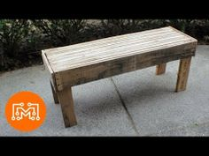 ▶ How to make a bench from reclaimed pallets - YouTube