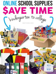 Save Time with Online School Supplies