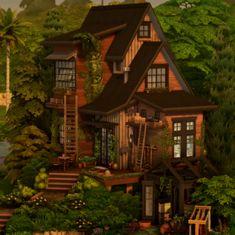 Sims 4 House Plans, Sims 4 House Building, Muebles Sims 4 Cc, Sims 4 House Design, Casas The Sims 4, Suburban House, Sims Four, Sims 4 Build, Sims 4 Houses