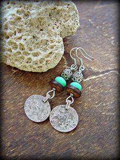 Gypsy Earrings  Boho Hippie Earrings  Ethnic by HandcraftedYoga, $23.00