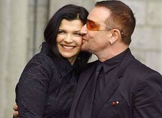 Just another reason to admire them both! Bono & Ali Hewson married in Raheny Ireland on Aug The singer met his activist wife when he was she was 15 Ali Hewson, Celebrity Couples, Celebrity Weddings, Hollywood Couples, U2 Band, Bono U2, An Affair To Remember, Lucky Girl, Lucky Man