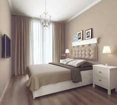 Home interior design modern bedroom interior design Bedroom Color Schemes, Bedroom Colors, Home Decor Bedroom, Living Room Decor, Bedroom Ideas, Living Rooms, Cottage Bedrooms, Bedroom Designs, Bedroom Inspiration