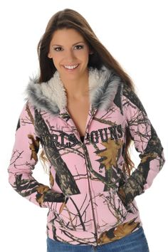 Mossy Oak Break Up® Pink Fur Hoodie. I will need this if we move to the mountains off the grid.