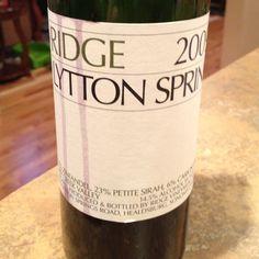 Really enjoyed this @ridgevineyards 2009 Lytton Springs Zinfandel. #wine #sonoma