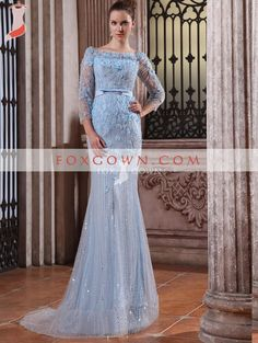 2013 luxury off shoulder long dress with short sleeve and beading flowers ... Blair's dress from gg!