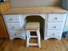 Shabby Chic Pine Desk / Dressing Table hand by SunflowerLou
