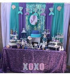Cute party idea – My WordPress Website Little Mermaid Baby, Little Mermaid Parties, Mermaid Theme Birthday, Little Mermaid Birthday, 4th Birthday Parties, Birthday Party Decorations, Mermaid Baby Showers, Shower Party, Creations