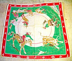 1950-60s Western Design Children's Handkerchief. Click the image for more information.