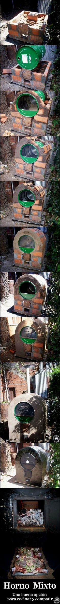 looks like a pizza oven Pizza Oven Outdoor, Outdoor Cooking, Outdoor Projects, Home Projects, Wood Fired Oven, Ideias Diy, Rocket Stoves, Outdoor Living, Garden Design