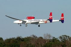 Steve Fossett in the Virgin Atlantic GlobalFlyer completed the first solo, nonstop, round-the-world flight on March 3, 2005.