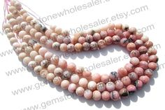Pink Opal Dendritic Smooth Round Quality B / by GemstoneWholesaler