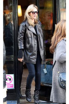 Biker Chic - Though a cropped leather jacket will always remain a hero item, Kate makes a strong case for a double-breasted iteration of the look.