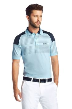 Golf polo shirt with Nano-Tex finish 'Paddy MK 1', Light Grey