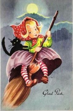 I have discovered a fascinating Swedish tradition centered around Easter : Easter witches. On the Thursday before Easter (. Swedish Traditions, Easter Traditions, Cartoon Art Styles, Vintage Easter, Epiphany, Halloween Art, Hallows Eve, Easter Crafts, Happy Easter