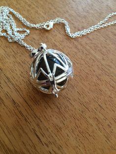Silver locket with smokey quartz crystal by wellbeingbliss on Etsy