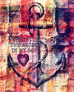 This hope is a strong and trustworthy anchor for our souls. It leads us through the curtain into God's inner sanctuary. Hebrews 6:19 NLT ~Christ is the anchor in my soul~