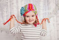 Handmade Crochet Earflap Hat for Infant by AuntieRuthsBoutique, $19.99