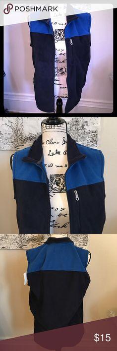 Croft & Barrow Men's Knit New Color Block Men's knit blue and black croft & barrow Jackets & Coats Vests