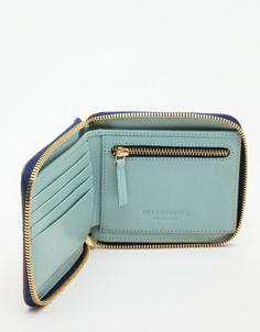 Tan Half Zip Wallet from Need Supply