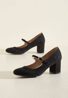 Dance Floor Doubles Heel in Black. Finding the perfect partner can be a real challenge. #black #modcloth