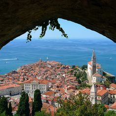 Piran, Slovenia is a medieval town on the Adriatic Sea. It's a less touristy Venice. Full of majestic Cyprus tress and white rock beach. I didn't want my swim in the Adriatic to end. So invigorating!