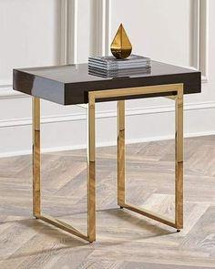 Interlude Home Cronyn Veneer Side Table