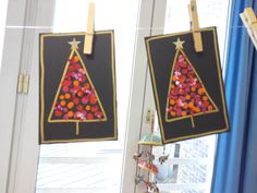 Deditos Christmas Tree Cards, Noel Christmas, Christmas Crafts For Kids, Xmas Crafts, Christmas Projects, Christmas Decorations, Diy Crafts To Do, Theme Noel, Art For Kids