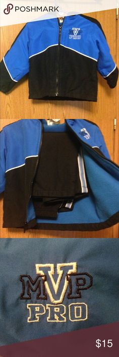 2 piece set. Matching jacket and sweatpants. 2 piece set. Great condition! No wear and tear! Size: boys 2T. Nice and warm on the inside! mick and mack Matching Sets