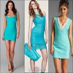 turquoise pencik dresses / turkuaz kalem elbiseler => http://www.giyimvemoda.com/turkuaz-nasil-giyilir-turkuaz-kombinleri.html