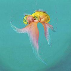 Anne Geddes - Mira as a Tropical Fish