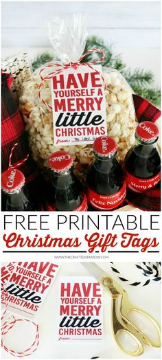 Coca-Cola Christmas Gift Basket Idea + Free Printable Tags | #ShareaCoke #ad