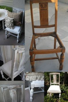 This girl has all kinds of DIY shabby chic furniture!