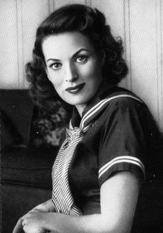 Maureen O'Hara - I love everything about her in this film (How Green Was My Valley) #vintage #1941 #o'hara