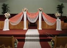 Image result for how to put tulle on a wedding arch