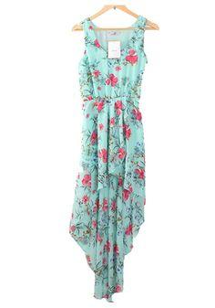 Green Swallowtail Dress