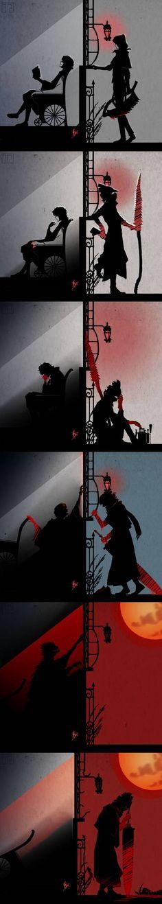 Gilbert& Arc // My poor favourite Bloodborne npc :& There will always . Trimmed Beard Styles, Faded Beard Styles, Beard Styles For Men, Man Looking Up, Arte Dark Souls, Wonder Woman Shirt, Bloodborne Art, Bald With Beard, Beard Humor