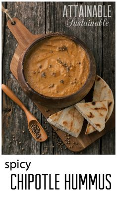 Spicy chipotle hummus is easy to make and a great addition to wraps or game day appetizers.