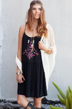 TRIBAL EMBROIDERED LACE UP BACK TUNIC DRESS  Embrace your boho side with this light and airy tunic dress. Features a lace up back with tassels and and the hottest tribal print.  #obsezz #dress #dresses #sleeveless #embroidered #lace #tunic #tunicdress #black #tribal #aztec #gladiator #sandals #hairband #hair #sweater #knit #cardigan #fashion #style #trend #boho #bohemian #hipster #urban #free #love #hippie #carefree #gypsy #rustysunday #gacred #gameofthrones #mcfc #signsunday #thematers