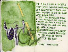 Hemingway on bikes