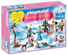 """PLAYMOBIL Advent Calendar - Royal Ice Skating Trip - Glide across the Frozen lake with the royal family! the Advent calendar """"royal ice skating trip"""" contains twenty-four surprise items for each day leading up to Christmas. Once all the pieces are revealed, you'll see all the woodland creatures gathered to watch everyone skate. As an added bonus, b..."""