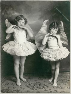 "Two little faeries - ""Later in life, when they were taller, flying became less important. Not to mention, harder to do""."