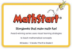 This site has downloadable activity pages, book lists, and many other resources to go along with the books in the MathStart series.