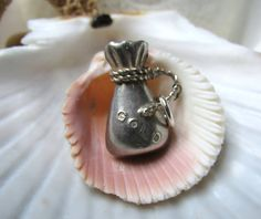 Sterling Silver Gold Miners Loot Bag Charm by EverythingIOwn, $20.00